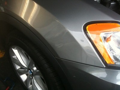 BMW Front Fender Paintless Dent Repair (After)